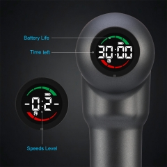 12.6V Led Display Never-Stop Massage gun 9 LEVELS WITH 6 MASSAGE HEADS